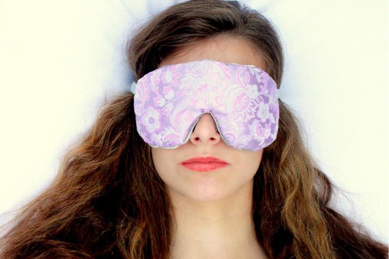 Lovely Lilac Sleep Eye Mask by Candi Andi