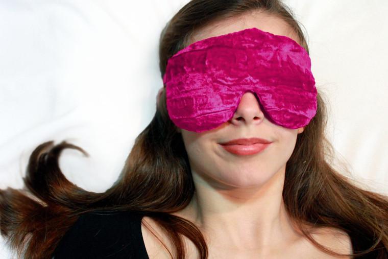 Sleep Eye Mask Pillow - Hot Pink