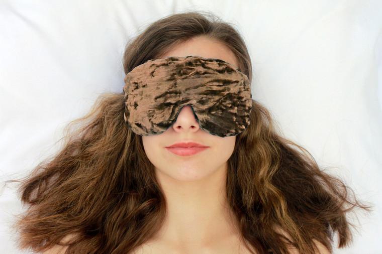 Sleep Eye Mask Pillow - Mocha