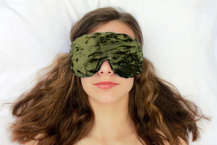 Sleep Eye Mask Pillow - Olive