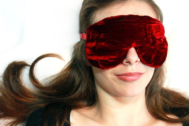 Sleep Eye Mask Pillow - Ruby Red