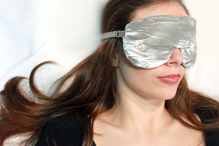 Sleep Eye Mask Pillow - Silver