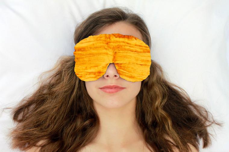 Sleep Eye Mask Pillow - Yellow