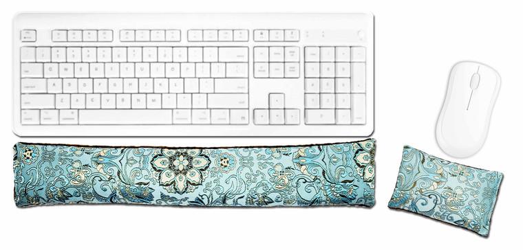 Candi Andi Blue Lagoon Ergonomic Keyboard Mouse Wrist Rest Set