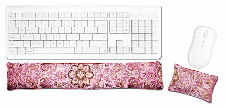 Candi Andi Hot Pink Ergonomic Keyboard Mouse Wrist Rest Set