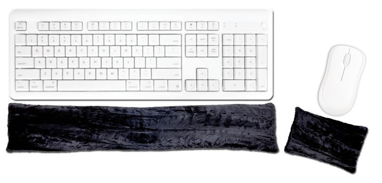 Candi Andi Black Ergonomic Keyboard Mouse Wrist Rest Set