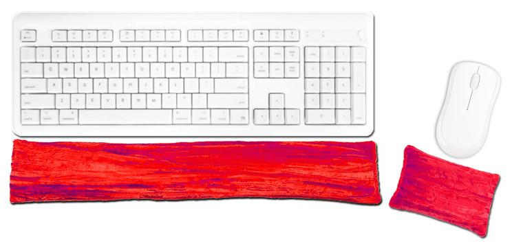 Candi Andi Cherry Ergonomic Keyboard Mouse Wrist Rest Set