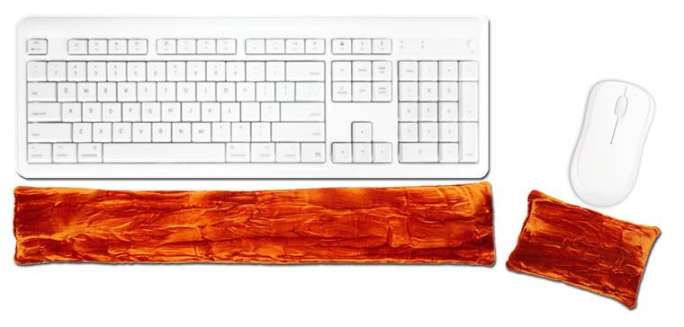 Candi Andi Copper Ergonomic Keyboard Mouse Wrist Rest Set