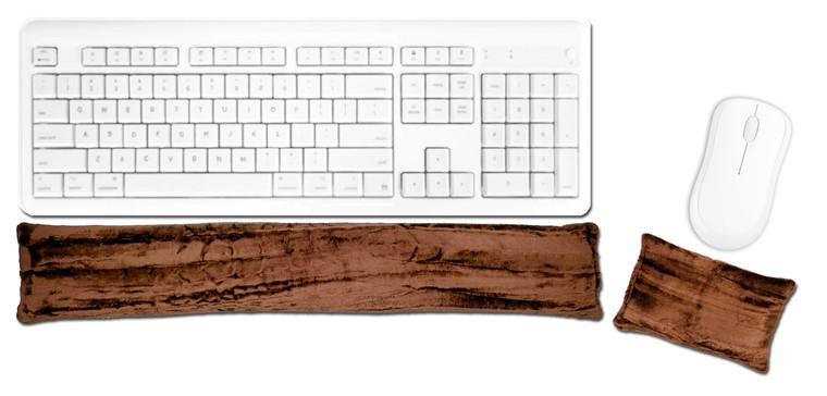 Candi Andi Mocha Ergonomic Keyboard Mouse Wrist Rest Set
