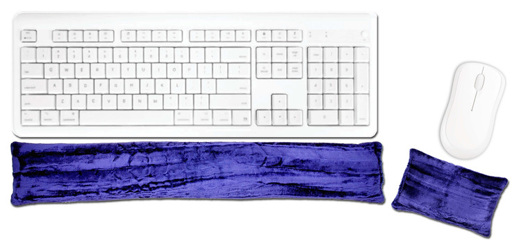 Candi Andi Majestic Purple Ergonomic Keyboard Mouse Wrist Rest Set