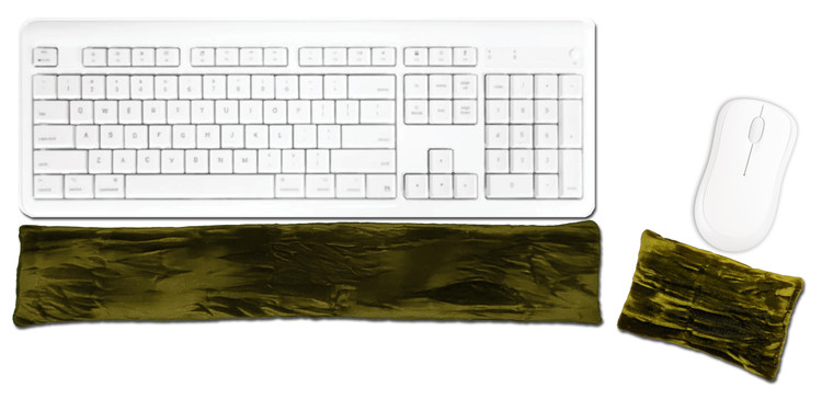 Candi Andi Olive Ergonomic Keyboard Mouse Wrist Rest Set