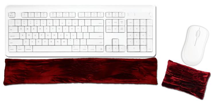 Candi Andi Ruby Red Ergonomic Keyboard Mouse Wrist Rest Set