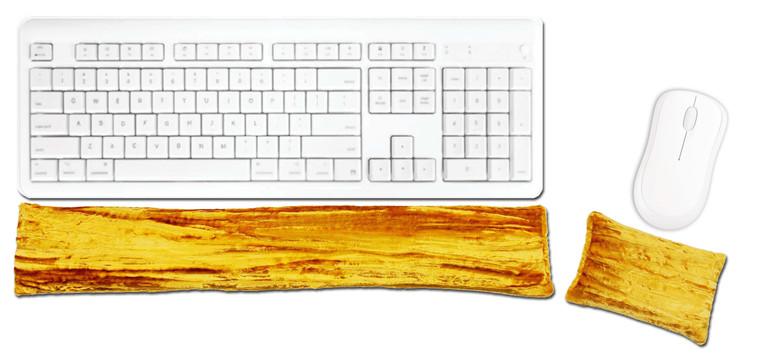 Candi Andi Yellow Ergonomic Keyboard Mouse Wrist Rest Set