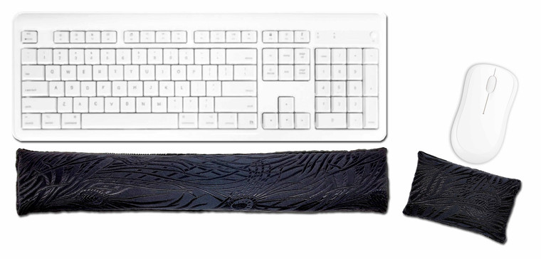 Candi Andi Black Magic Ergonomic Keyboard Mouse Wrist Rest Set
