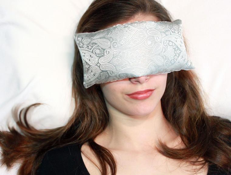Eye Pillow - Pewter Paisley