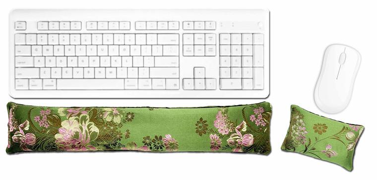 Candi Andi Spring Green Ergonomic Keyboard Mouse Wrist Rest Set