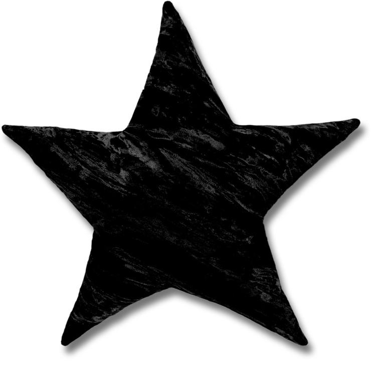 """13"""" & 17"""" Crushed Velvet Star Shaped Throw Decor Pillows"""