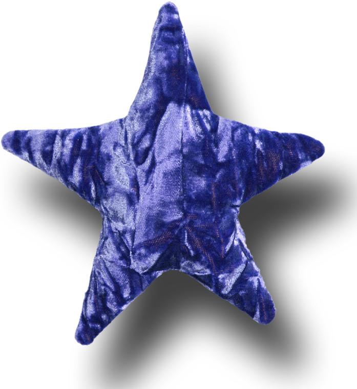 "Majestic Purple - 6"" Crushed Velvet Star Shaped Pillow Sachets by Candi Andi"