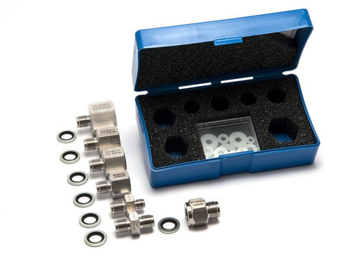 """Pressure fitting set G 1/4"""" to various threads (1000 bar)"""