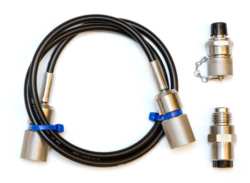 Pressure hose 1000 bar, 1m with G fitting set