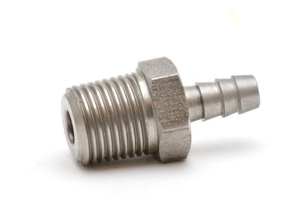 """Pressure fitting 1/8"""" NPT male to 1/8"""" ID hose"""