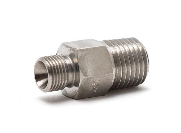 "Pressure fitting Bx G1/8"" male to 1/4"" NPT male"