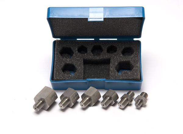 """Pressure fitting set 1/4"""" NPT male to various (1000 bar)"""