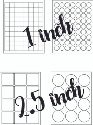 Square or Circle Labels
