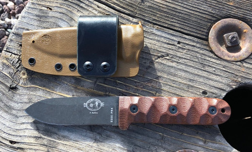 taco style, tan, leather loop