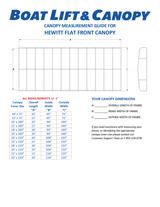 Hewitt Flat End - 13oz Vinyl Canopy Covers
