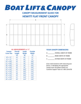 Hewitt Flat End - Harbor Time Canopy Covers