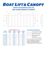 LakeShore Products - 13oz Vinyl Canopy Covers