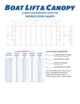 ShoreStation Aluminum Frame - 13oz Vinyl Canopy Covers