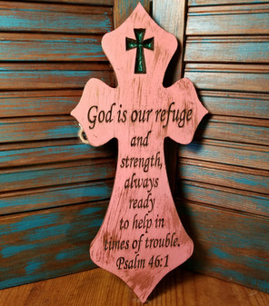 Red Dirt Soap, Hand painted Cross, Psalms 46:1