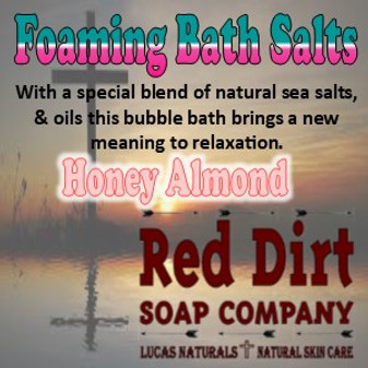 Honey Almond Foaming Bath Salt