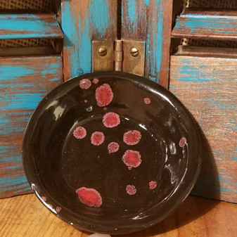 BLACK OPAL DISH, RED DIRT SOAP, HANDMADE SOAP DISH