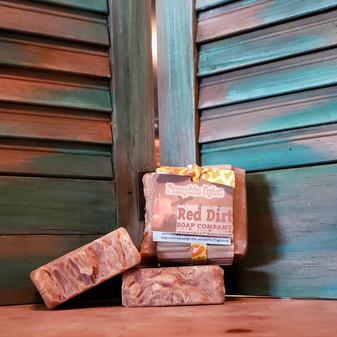 natural pumpkin bar soap, natural bar soap, red dirt soap company, pumpkin natural soap