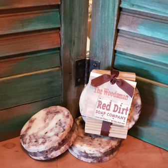 shave soap, tea tree, cedarwood, sage, essential oil, red dirt soap, natural skin care