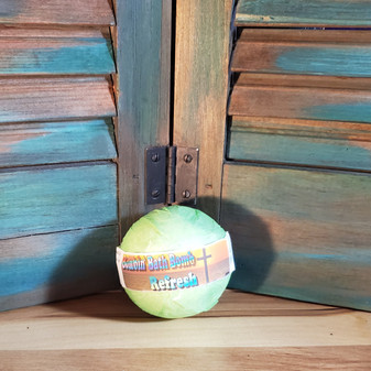 BATH BOMB, LEMONGRASS ESSENTIAL OIL, NATURAL SKIN CARE, HEALTHY SKIN, RED DIRT SOAP