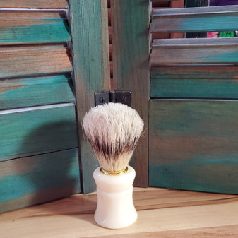 boar shave brush, white, shaving brush, skin care, red dirt soap, mens shaving kit