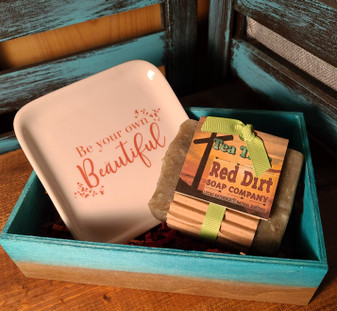 natural bar soap, hand painted wooden crate, soap dish, red dirt soap, Made in the USA, Made in Oklahoma