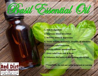 Basil essential oil Red Dirt Soap