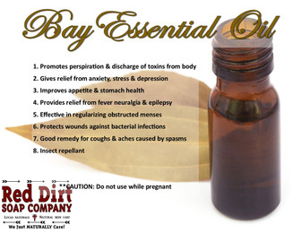 Bay essential oil Red Dirt Soap