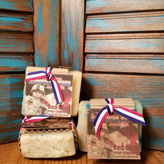 American Hero Natural Bar Soap (also available in loaves)