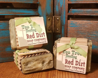 tea tree natural soap, healing power, essential oil, tea tree, red dirt soap company, natural skin care