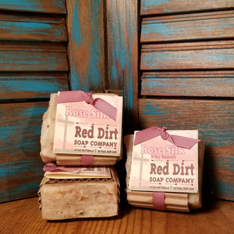 Rose Silk Natural Bar Soap (also available in loaves)