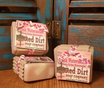 Pink Watermelon Natural Bar Soap (available in loaves)