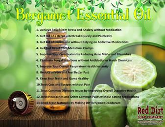 Bergamot essential oil Red Dirt Soap