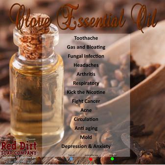 clove essential oil, Red Dirt Soap