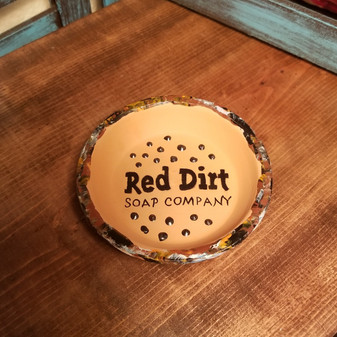 Hand painted Terracotta  Soap Dish - Spots of Rustic Touch